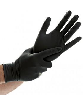 """Γάντια νιτριλίου """"Power Grip"""" / χωρίς πούδρα, Μαύρο"""