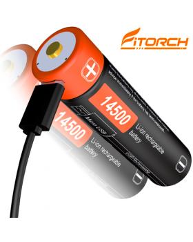 FITORCH RC145 14500-750mAH ΜΠΑΤΑΡΙΑ ΛΙΘΙΟΥ ΜΕ USB