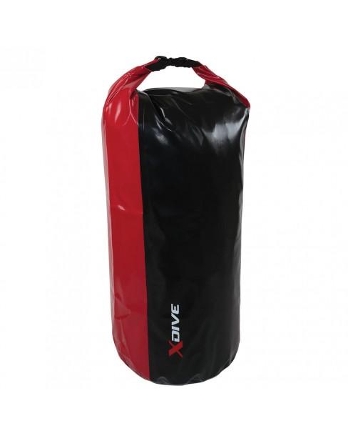 Σάκος Στεγανός XDive Tube 65lt Μαύρο - Κόκκινο