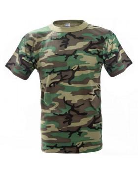 Μπλουζάκι βαμβακερό 100% ανεξίτηλο παραλλαγής USA
