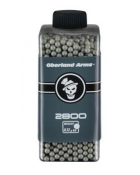 Βλήματα Airsoft BBs 6mm 0.12gr Oberland Arms Black Label - 2800