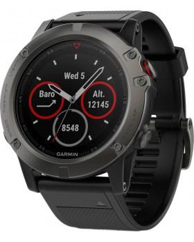Fenix 5X Sapphire Slate Grey with Black Band