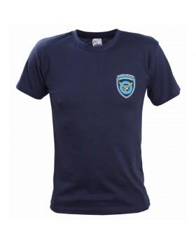 Μπλουζάκι με στάμπα ΠΟΛΕΜΙΚΗ ΑΕΡΟΠΟΡΙΑ μπλε