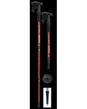 Μπαστούνι ορειβασίας πτυσσόμενο κόκκινο