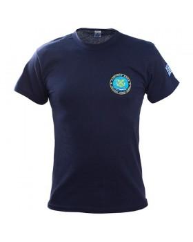 Μπλουζάκι μακό με κέντημα Λιμενικού μπλε