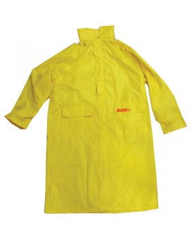 LALIZAS Αδιάβροχο Σακάκι μακρύ με κουκούλα, κίτρινο, 3XL