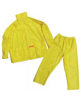 LALIZAS Αδιάβροχο Παντελόνι & Σακάκι με κουκούλα, κίτρινο, L