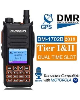 Baofeng DM-X GPS Record Dual Band Dual Time Slot Tier 1&2 Tier II DMR Digital/Analog Upgrade of DM-1702 Digital Walkie Talkie
