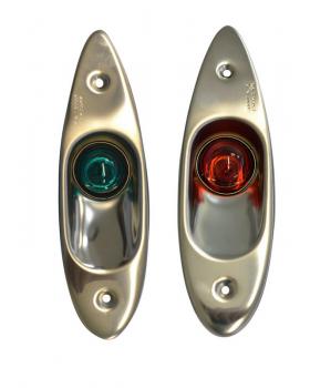 Πλευρικοί Φανοί Ναυσιπλοΐας Inox 12V Χωνευτοί