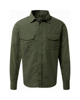 Craghoppers Kiwi Long Sleeved Shirt Cedar