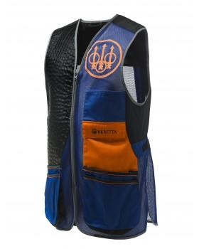 Beretta Sporting EVO Vest 05C6 Blue Total Eclipse, Black & Orange