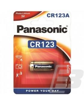 CR123 PANASONIC ΜΠΑΤΑΡΙΑ ΛΙΘΙΟΥ 3V