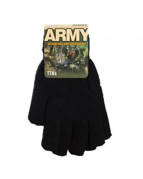 Γάντια πλεκτά στρατιωτικά (πετσετέ) μαυρο