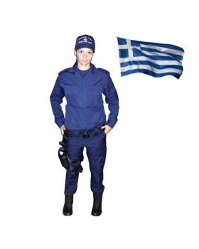Παντελόνι Γυναικείο Survivors Μπλε Σατέν Χειμερινό Ελληνικής Ραφής