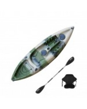 SCK Conger Μονοθέσιο καγιάκ ψαρέματος με κουπί και κάθισμα Καμουφλάζ