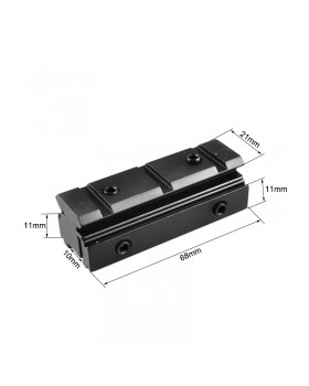 Adapter Dovetail 11mm to Picatinny 20mm 6.8cm LT012