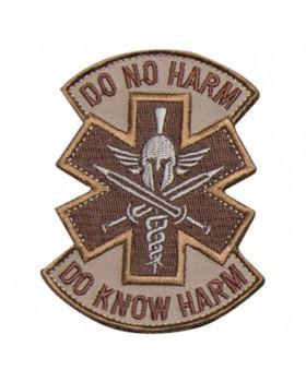 Mil-Spec Monkey Κεντημένο Σήμα Do No Harm Spartan Desert (Velcro)