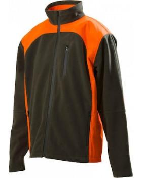 Toxotis Active Wear Αδιάβροχη Ζακέτα Fleece Χακί/Πορτοκαλί