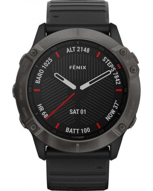 Garmin Fenix 6X Sapphire (Carbon Grey DLC with Black Band)