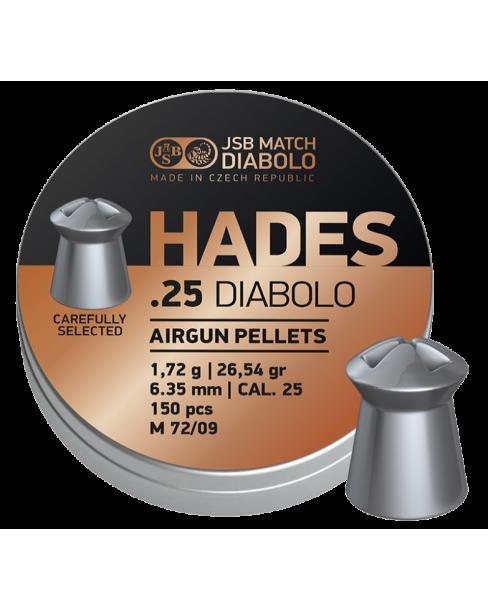 ΒΛΗΜΑΤΑ JSB HADES cal.25 / 6.35mm 1,72g / 26,54gr