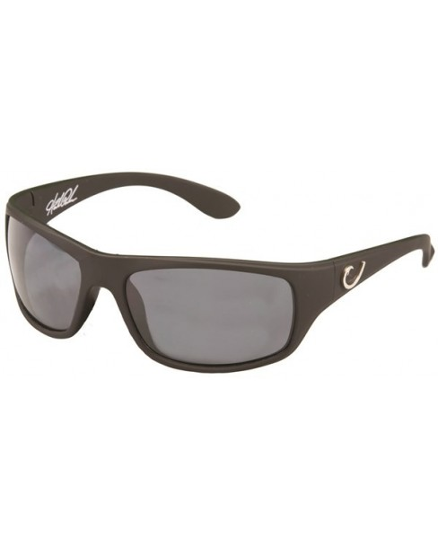 Mustad Γυαλιά Ηλίου Μαύρος Σκελετός, Smoke Φακός με Μάυρο REVO