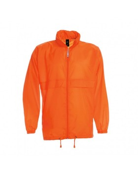 JACKET SIROCCO WINDBREAKER LIGHT WEIGHT NYLON ORANGE