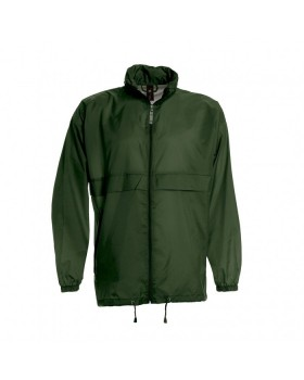 JACKET SIROCCO WINDBREAKER LIGHT WEIGHT NYLON FOREST GREEN