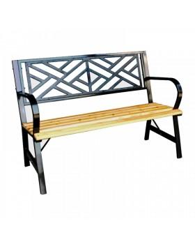 Παγκάκι Μεταλλικό με Ξύλινο κάθισμα διθέσιο 120cm