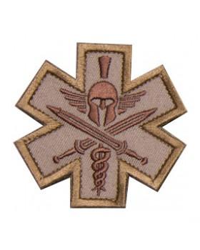 Mil-Spec Monkey Κεντημένο Σήμα Medical Spartan - Desert (Velcro)