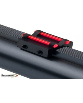 Toni System Πίσω Διπλό Σκοπευτικό με 1,5mm Οπτική Ινα και Ρίγα εως 8,1χιλ Κόκκινο (TR8)