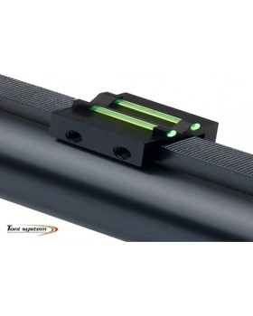 Toni System Πίσω Διπλό Σκοπευτικό με 1,5mm Οπτική Ινα και Ρίγα εως 8,1χιλ Πράσινο(TV8)