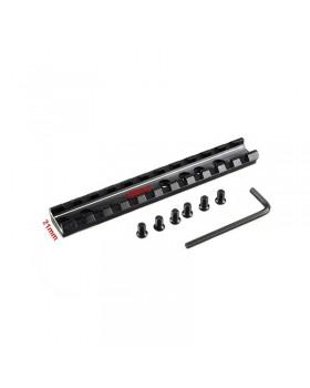 Ράγα PICANTINNY WEAVER RAIL 20mm 12cm/11 SLOTS LT019