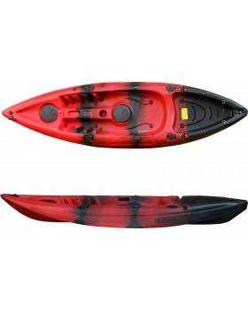 SCK Conger Μονοθέσιο καγιάκ ψαρέματος με κουπί και κάθισμα Κόκκινο/Μαύρο