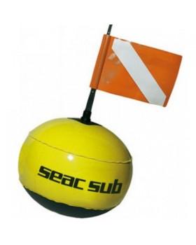 Σημαδούρα Σφαιρική Με PVC SEAC SUB BOA FLUO Κίτρινη