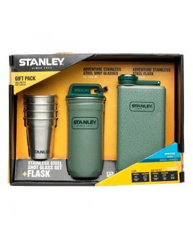 Σετ Φλασκί Stanley Adventure Steel Flask 0.23L με 4 Ποτήρια