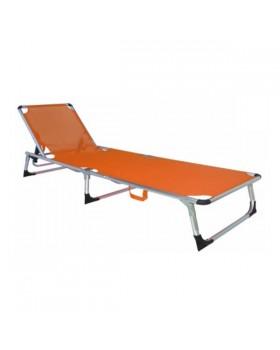 Ξαπλώστρα Παραλίας Αλουμινίου Πορτοκαλί