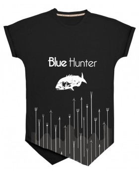 Blue Hunder T-Shirt Fashion 1 ΜΑΥΡΟ