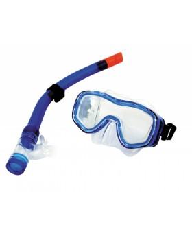 Blue Wave-Σετ Μάσκα / Αναπνευστήρας Mora Blue Junior