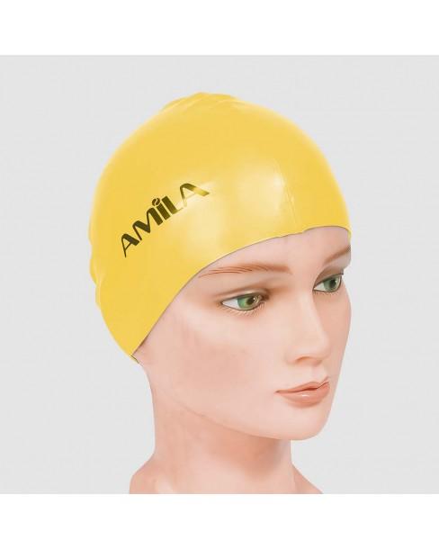 Σκουφάκια πισίνας απλά μονόχρωμα, Κίτρινο