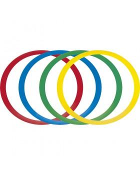 Επίπεδα δαχτυλίδια ελέγχου/ισορροπίας (12 τμχ., ποικίλα χρώματα)