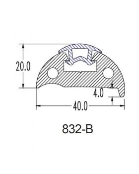 ΠΡΟΦΙΛ  PVC ΠΟΛ. ΣΚΑΦΗ W40mmxH20mm ΣΚ. ΜΠΛΕ