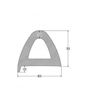 ΠΡΟΦΙΛ PVC  ΒΑΡΕΩΣ ΤΥΠΟΥ  ΓΙΑ ΠΟΛΛΑΠΛΕΣ ΕΦΑΡΜΟΓΕΣ  W85 X H70