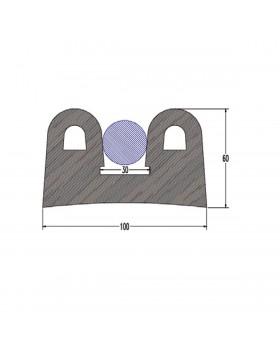 ΠΡΟΦΙΛ PVC ΓΙΑ ΠΟΛΥΕΣΤΕΡΙΚΑ ΣΚΑΦΗ Β.Τ. W100 x H60