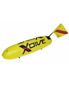 Σημαδούρα XDive Απλή Pvc Κίτρινη