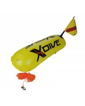 Σημαδουρα XDive Pvc Διπλού θαλάμου Κίτρινη