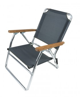 Καρέκλα Αλουμινίου Παραλίας Χαμηλή