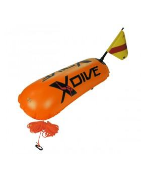 Σημαδούρα XDive Διπλού Θαλάμου PVC Πορτοκαλί