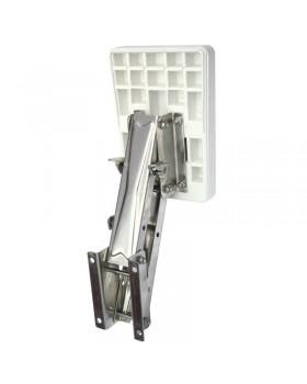 Βάση ανοξείδωτη εφεδρικής μηχανής, ρυθμιζόμενη με πλαστικό καθρέφτη για μηχανές έως 7 ΗΡ.