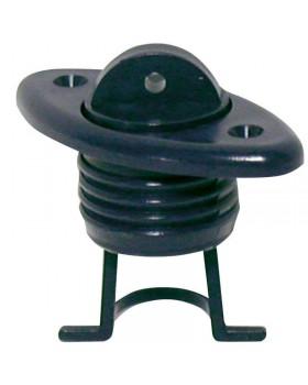 Σύστημα Απορρ. με Συγκρ. Τάπας, Οβάλ 60x30mm, Μαύρο