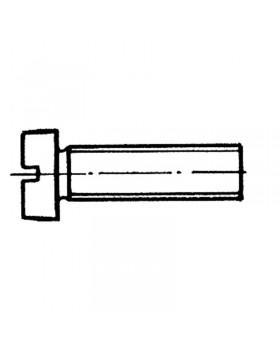 Βίδα ίσια πομπέ 6x60 mm Inox 316 DIN 84 / ISO 1207